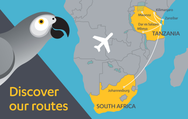 Fastjet 10:2013 Route Map