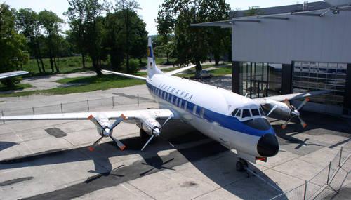 Lufthansa Viscount 800 D-ANAF (55)(Grd) FRA (Lufthansa)(LR)