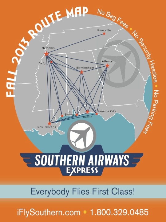 Southern Airways Express 2:2013 Route Map