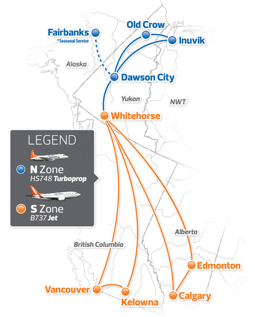 Air North 11.2013 Route Map