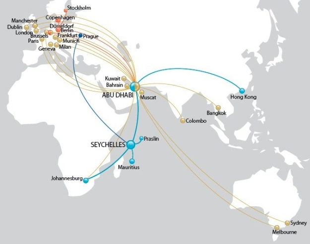 Air Seychelles 11:2013 Route Map