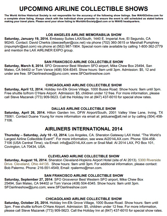 Airline Shows 11.2013