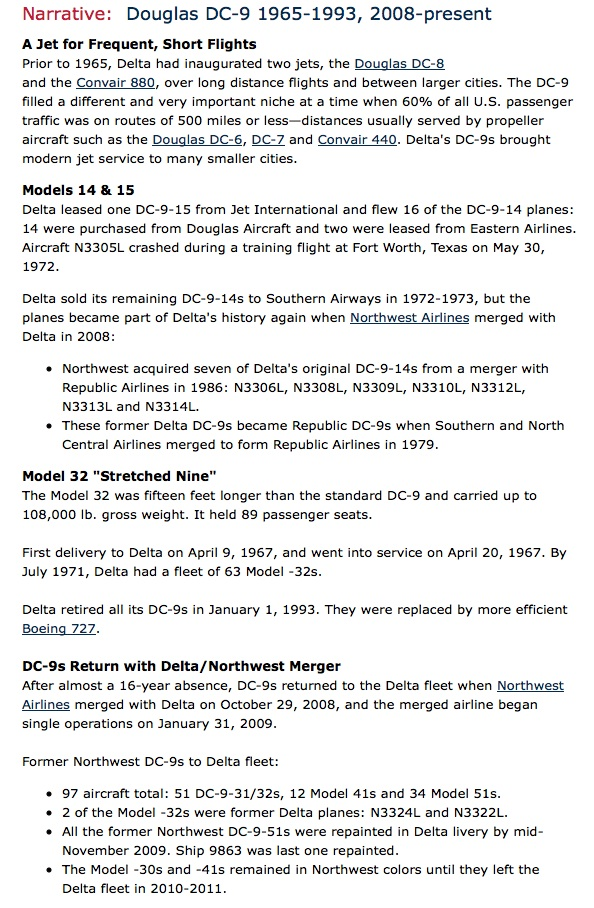Delta DC-9 History