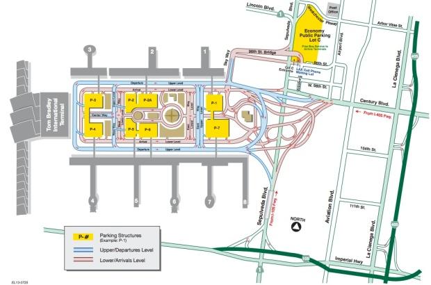 LAX Terminal Map (11:2013)