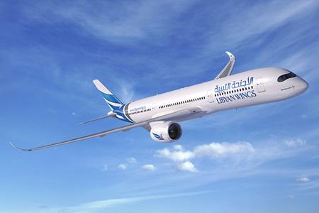 Libyan Wings A350-900 (14)(Flt)(Airbus)(LRW)