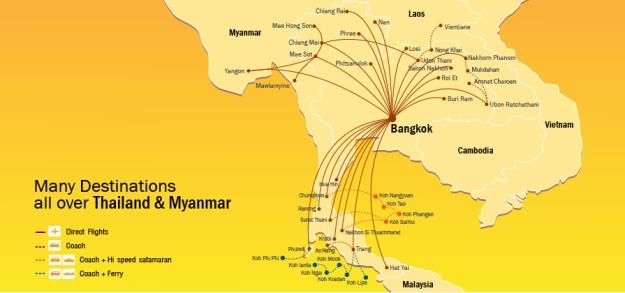 Nok Air 11.2013 Route Map