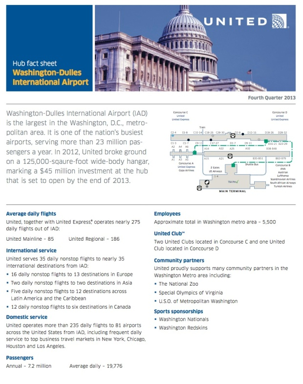 Washington Dulles Fact Sheet (11.2013)