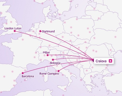 Wizz Air 11.2013 Craiova Route Map