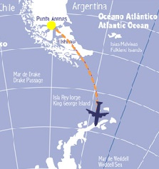Aerovias DAP Antartica Airways 1:2013 Route Map