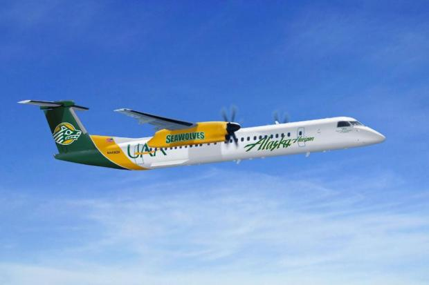 ALASKA AIRLINES UNIVERSITY-THEMED Q400 AIRCRAFT