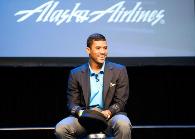 ALASKA AIRLINES RUSSELL WILSON