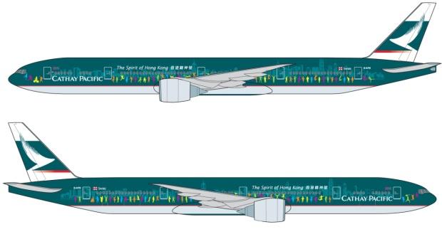 Cathay Pacific 777-300 B-KPB (13-The Spirit of Hong Kong)(Drawings)(Cathay Pacific)(HR)