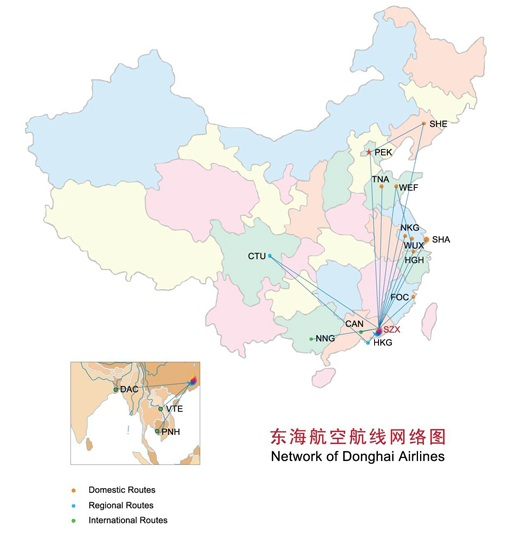 Donghai 12.2013 Route Map