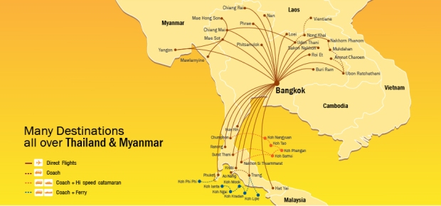 Nok Air 12:2013 Route Map