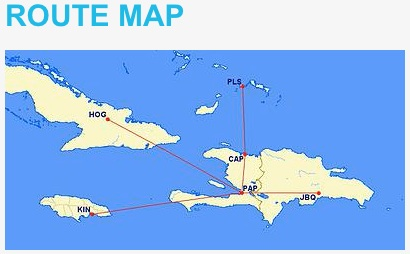 Sunrise Airways 12.2013 Route Map