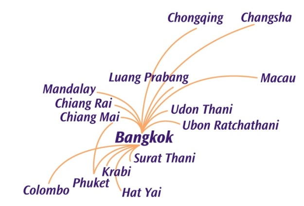 Thai Smile 12.2013 Route Map