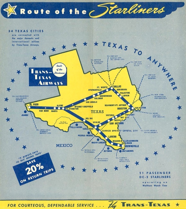 Trans-Texas 11.1.49 Route Map