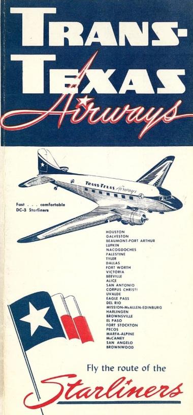 Trans Texas Airways Tta World Airline News