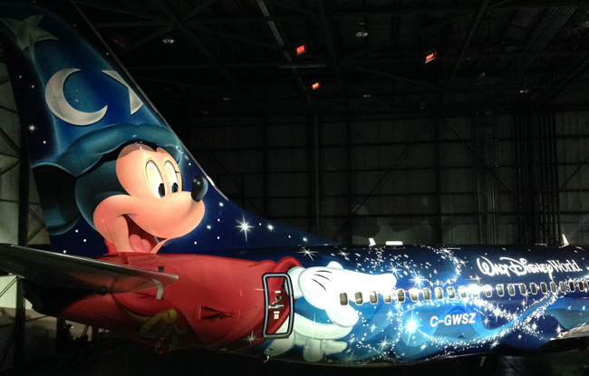 Westjet Unveils Its Walt Disney World Mickey Mouse