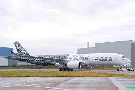 Airbus A350-900 F-WWCF (14-Carbon Fiber CS)(Grd) TLS (Airbus-P-Pigeyre)(LRW)