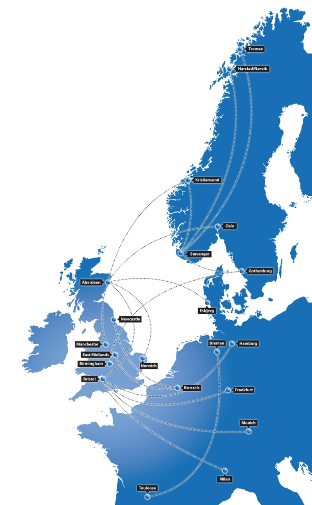bmi regional 1.2014 Route Map