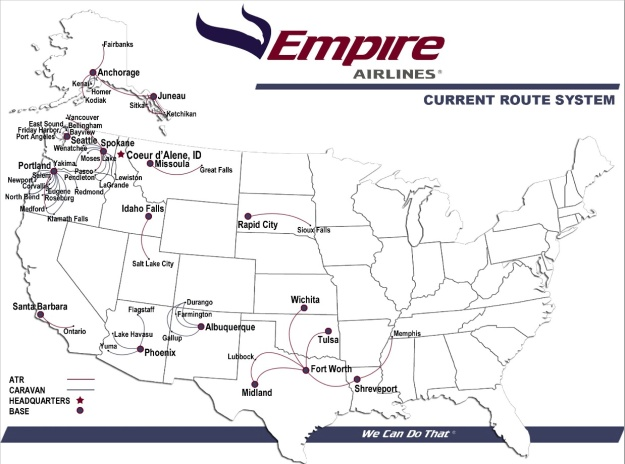 Empire Airlines (Idaho) 1.2014 Route Map