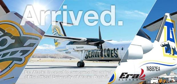 Era Alaska DHC-8-100 Univ of Alaska (Era)(LR)