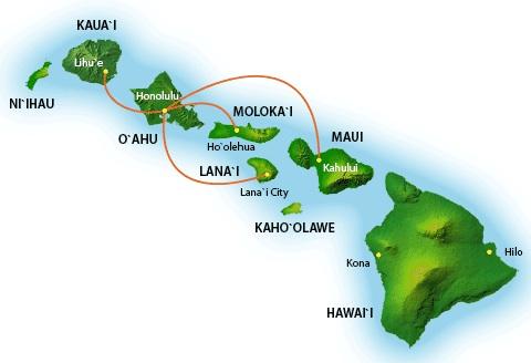 Us Airways Route Map Hawaii
