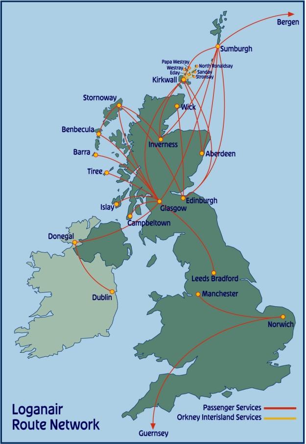 Loganair 1.2014 Route Map
