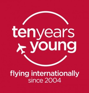 Virgin Australia 10 Years Internationally logo