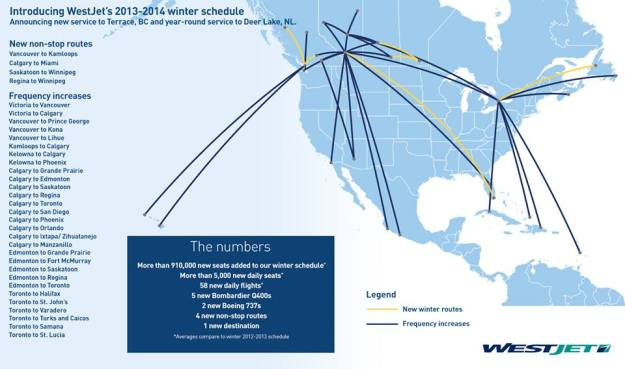WestJet 1.2014 Winter Route Map Additions