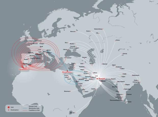 Air Arabia 2.2014 Route Map