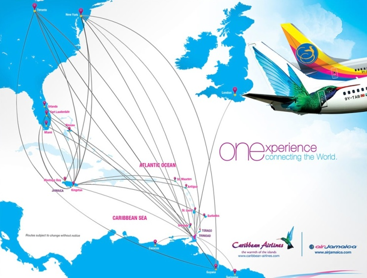 Air Jamaica 2.2014 route map