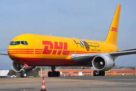DHL (UK) 767-300F G-DHLG (02-Pandastic Journey)(Nose) BRU (KCN)(LRW)