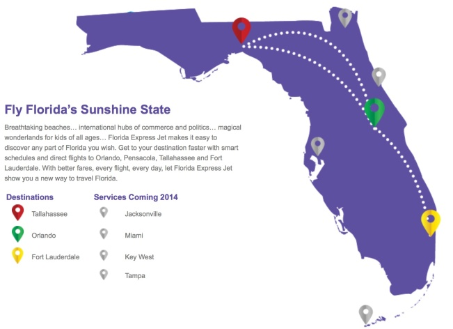 Florida Express Jet 2.2014 Route Map
