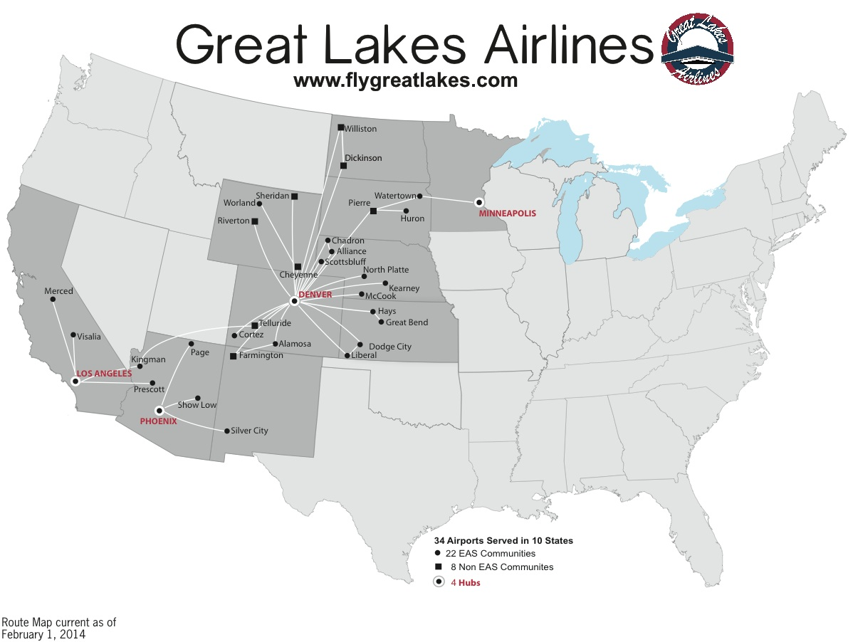 Great Lakes Map With Names Great Lakes 2.2014 Route Map