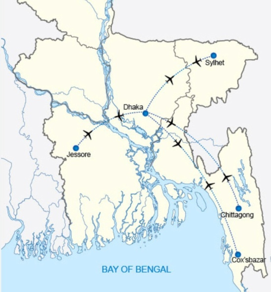 US-Bangla 2.2014 Route Map