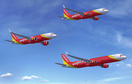 VietJetAir.com A320s and A321 Formation (Airbus)(LRW)