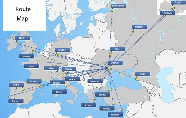 Air Moldova 3.2014 Route Map