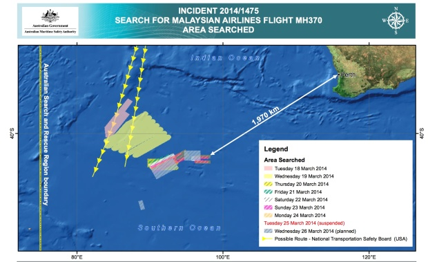 AMSA Indian Ocean Search Map 3.26.14