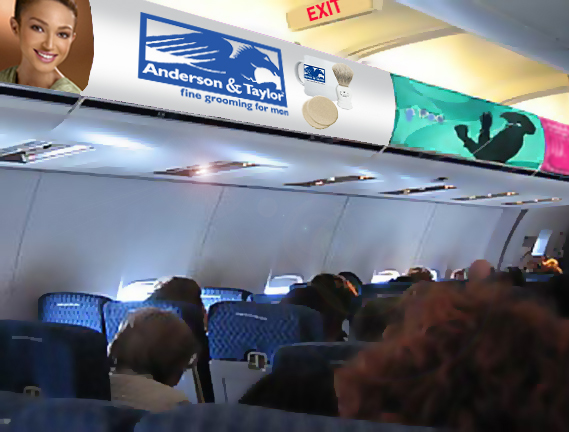 Avatar Airlines Bin Advertising