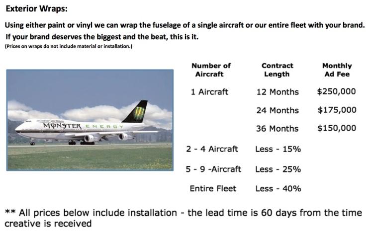 Avotar Airlines Exterior Wraps