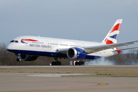 British Airways 787-8 G-ZBJC (97-Union flag)(Ldg) AUS (FEI)(LRW)
