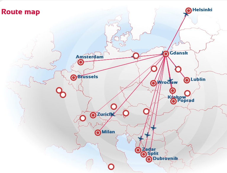EuroLOT 3.2014 Gdansk Route Map