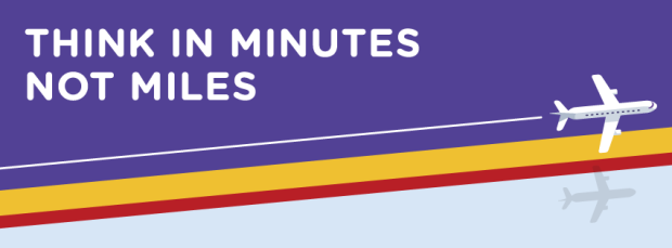 Flybe Think in Minutes banner (Flybe)(LR)