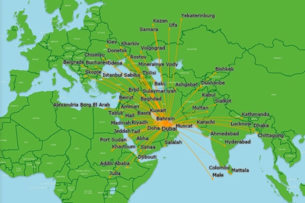 Flydubai 3.2014 Route Map
