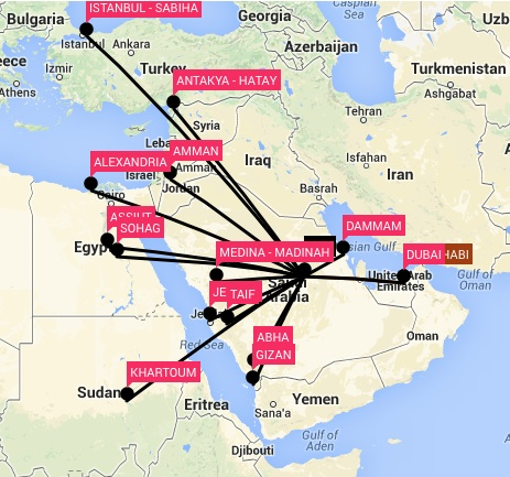 emirates route map with Flynas Announces New Airbus A330 Routes To London And Manchester on Heathrow Free Travel Zone  work Map additionally Index php together with Etihad Airways also Hotels Near Burj Al Arab moreover Qantas London Heathrow Perth Direct March 2018.