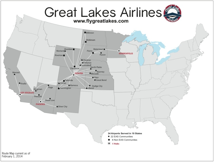 Great Lakes 3.2014 Route Map
