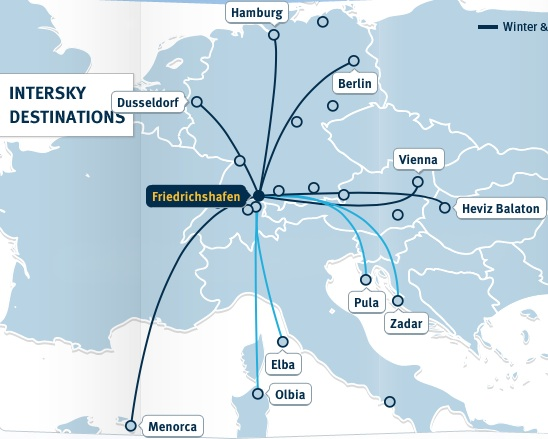 InterSKy 3.2014 Route Map
