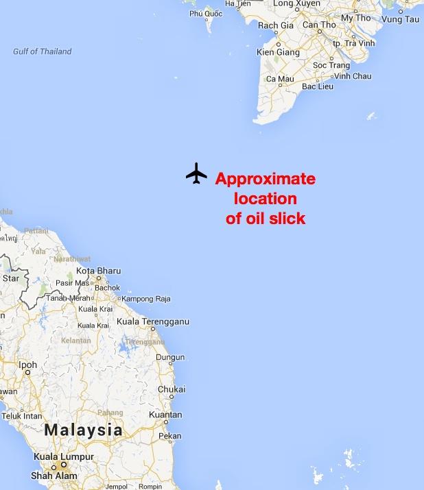 Malaysia MH 370 Map-1